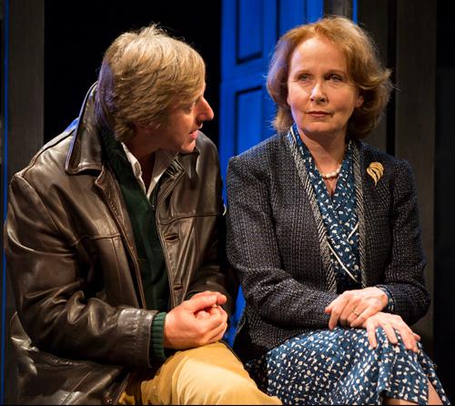 (r) Elizabeth Hapgood (Kate Burton) and (l) Joseph Kerner (Jake Weber) conspire at the Williamstown Theatre Festival. Photo: T. Charles Erickson.