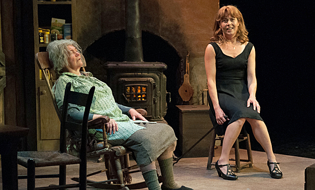 """Tina Packer as Mag, Elizabeth Aspenlieder as Maureen in """"The Beauty Queen of Leenane"""". Photo by Enrico Spada"""