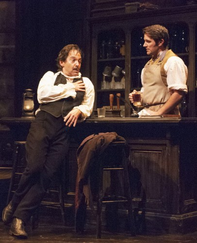 David Adkins and J. Andrew Young in Poe. Photo by Christina Riley