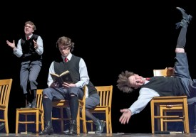 L to R) Matt McFadden (Georg), Lucas Phayre-Gonzalez (Melchior), Austin Lombardi (Moritz)