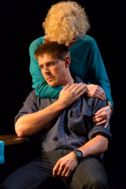 Chris Lowell (He) and Penny Fuller (Mother). Photo by T. Charles Erickson.