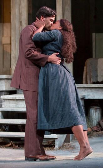 (L to R): Will Swenson (James Tyrone, Jr.) and Audra McDonald (Josie Hogan). Photograph T. Charles Erickson.
