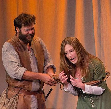 L-R: Nathaniel Kent as Pierre Arc, Anne Troup as Joan Arc.