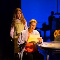 Pictured (L to R): Clara Young (Young Ellen/Lucy Rabinowitz) and Jessica Phillips (Ellen Rabinowitz). Photograph T. Charles Erickson.