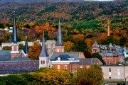 The city's steeples compete with the four mountain systems that surround it:(Greylocks, Hoosac,s Taconics and Greens.