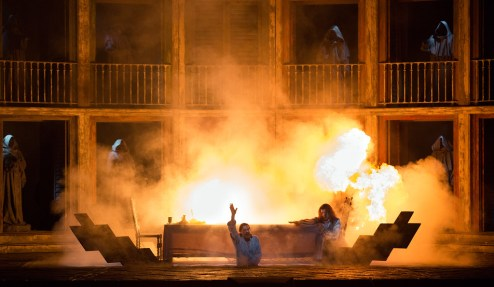 A scene from Mozart's Don Giovanni . Photo by Marty Sohl/Metropolitan Opera.
