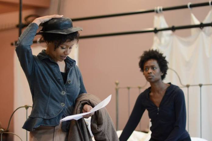 Nehassaiu deGannes and Medina Senghore (Rehearsal Photo: Olivia Winslow)