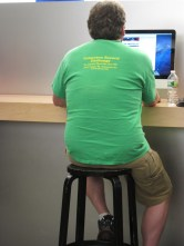St. Patrick's Day at the Apple Store?