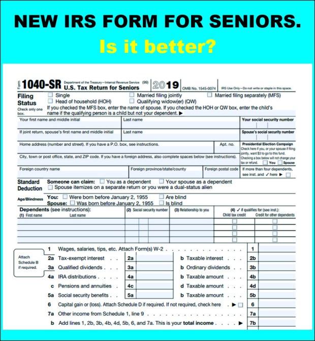 """1040-SR: The New Tax Return Form for Seniors"" – The ..."