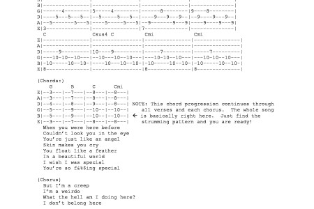 Unlimited Images Wallpaper » creep guitar chords | Yoga Images