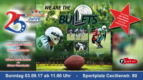 Event 25 jahre Berlin bullets Flyer Web