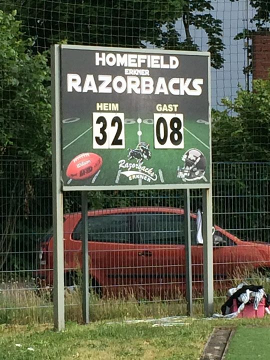 razorbacks vs Bullets 25.06.2017 Senior Tackle Endstand Tafel 32-06 Instergram