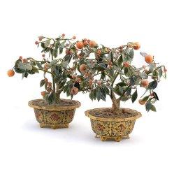 Ein Paar Jardinière China Emaillert 19 Jhr.