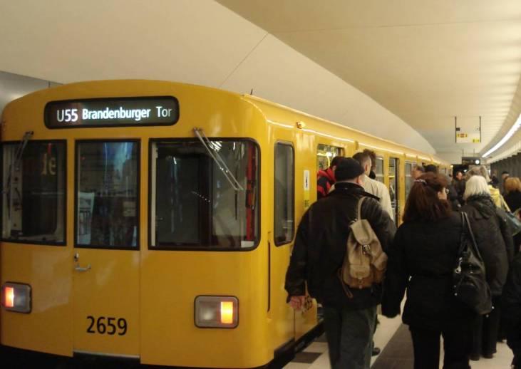 UBahn station Brandenburger Tor