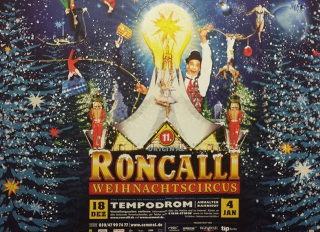 U-Bahn reklame for Roncallis Julecirkus 2014. Foto Kirsten Andersen