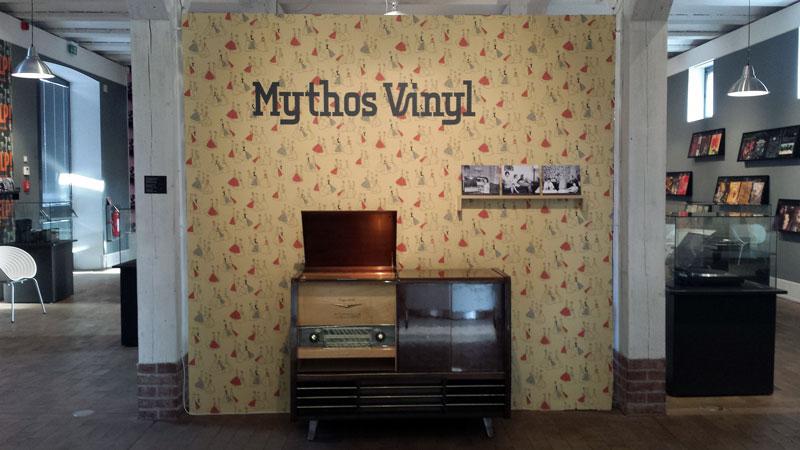 Udstillingen Mythos Vinyl i Museum Neukölln. Foto: Kirsten Andersen