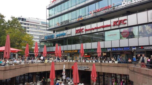 Europacenter var et af de store udviklingsprojekter i Berlin West, åbnet 1965. Foto: Kirsten Andersen