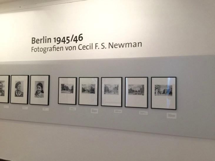 Udstillingen Berlin 1945/46 Fotografien von Cecil F. S. Newman i Märkisches Museum