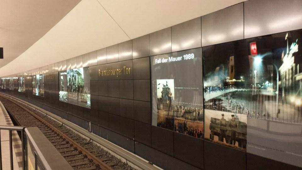 U-Bahn station Brandenburger Tor. Foto: Kirsten Andersen