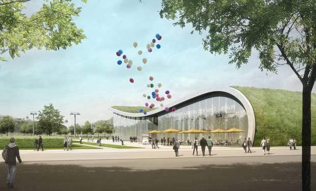 "IGA-Seilbahnstation ""Gärten der Welt"" am Blumberger Damm   Leitner Ropeways; Kolb Ripke Architekten JPG (38.5 KB)"