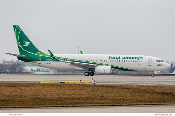 Iraqi Airways Boeing 737-800(WL) YI-ASF (© D. Kahra)