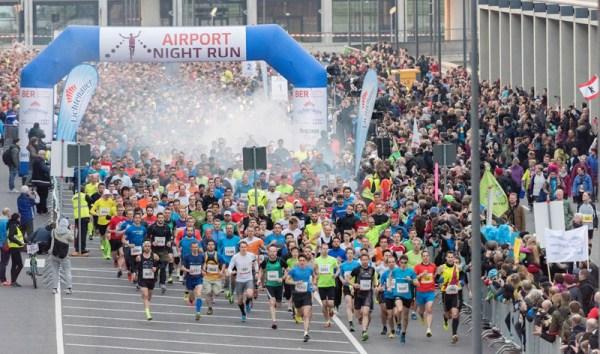 Um 19.30 Uhr fiel der Startschuss für den 10-Kilometer-Lauf und die Staffel beim Airport Night Run.