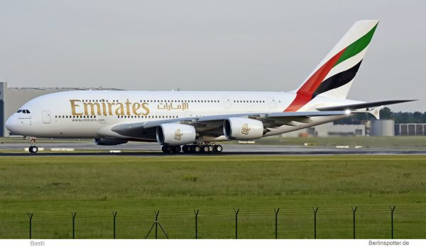 Emirates Airbus A380 A6-EUA