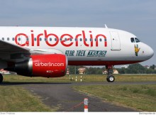 Air Berlin Airbus A320-200 D-ABFG, Star Trek Tele 5 (Berlin TXL 28.8. 2016)