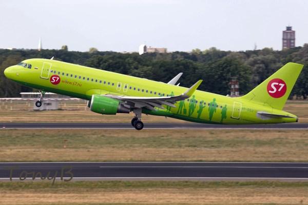 S7 Airlines Airbus A320-200 VP-BOJ (TXL 1.8. 2016)