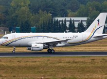 Royal Malaysian Air Force Airbus 319CJ 9M-NAA (TXL 26.9. 2016)