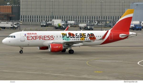 Iberia Express, Airbus A320-200(SL) EC-LYE (TXL 26.10. 2016)