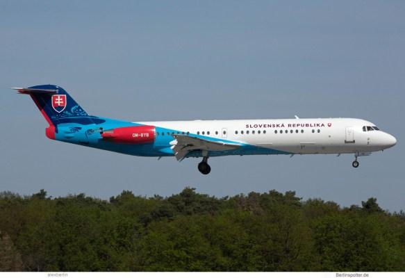 Slovak Gvmt., Fokker 100 OM-BYC (TXL 30.4.2019)