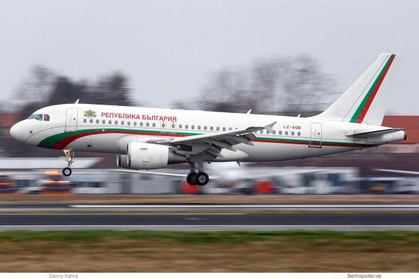 Bulgaria Gvmt. Airbus A319-100 LZ-AOB (TXL 18.1. 2018)