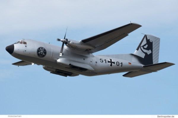 Luftwaffe, C-160 Transall 51+01, 60 Jahre LTG61, Silberne Gams-Bemalung (TXL 29.5. 2017)