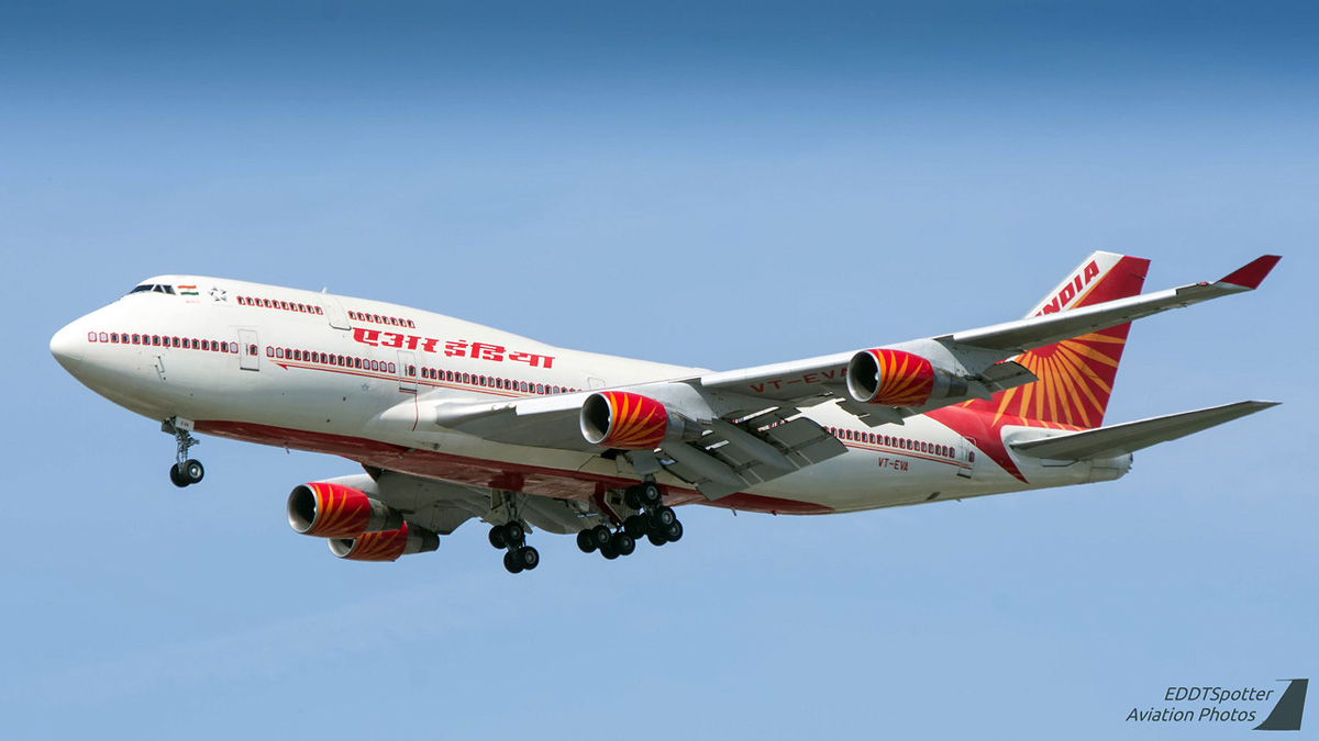 Air India Boeing 747-400 VT-EVA