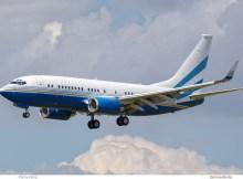 Las Vegas Sands Corp., Boeing 737-700(BBJ) N108MS (SXF 10.6. 2017)