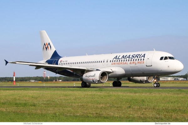 Almasria Universal Airlines, Airbus A320-200 SU-TCE (TXL 18.7. 2017)