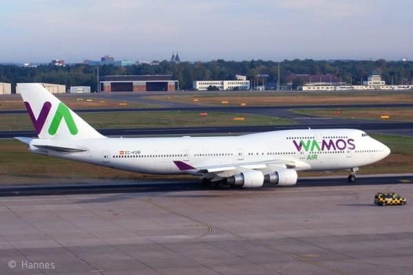 Wamos Air, Boeing 747-400 EC-KSM (TXL 23.9. 2017)