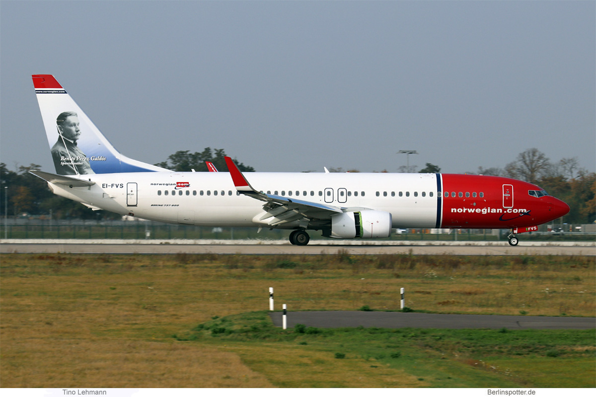 Norwegian Air International Boeing 737-800(WL) EI-FVS