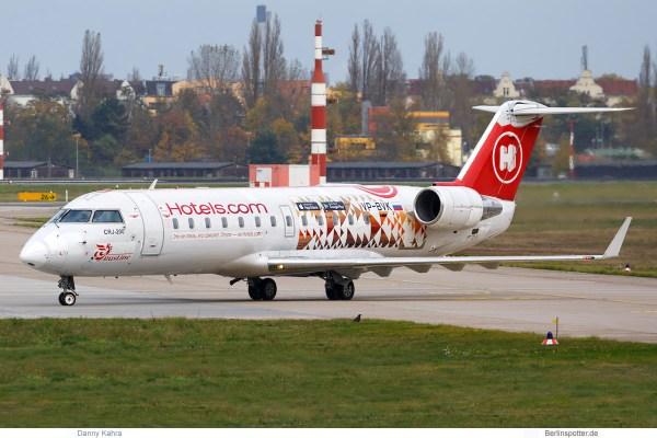 RusLine Bombardier CRJ100ER VP-BVK, Hotels.com-Bemalung (TXL 3.11. 2017)