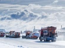 Schneeräumung am Flughafen Schönefeld