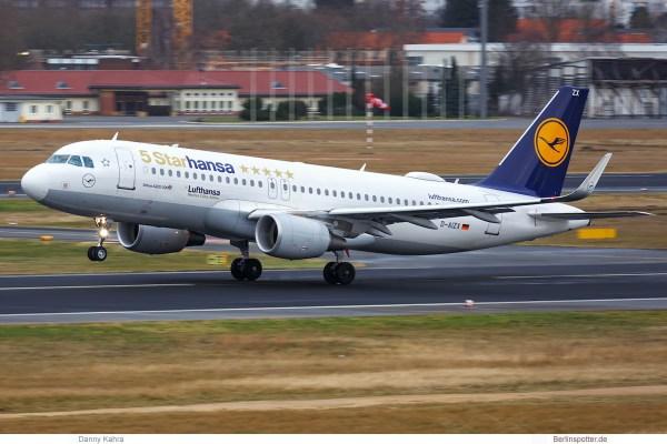 Lufthansa A320-200(SL) D-AIZX, 5 Starhansa cs. (TXL 5.1. 2018)