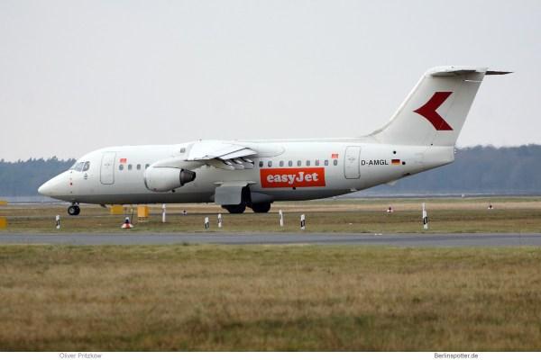 easyJet, BAe 146-200 D-AMGL (TXL 14.1. 2018)