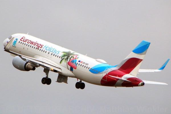 Eurowings Europe Airbus A320-200(SL) OE-IQD, Eurowings Holidays-Bemalung (TXL 5.1. 2018)