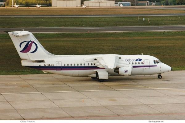Debonair BAe-146-200 G-DEBC (TXL 25.4. 1998)