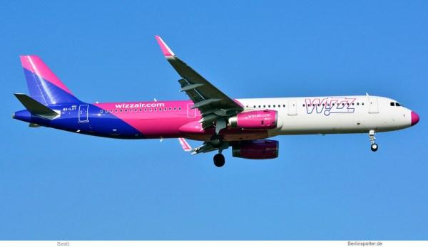 Wizz Air, Airbus A321-200(SL) HA-LXY, pinkes Radom (SXF 8.2. 2018)