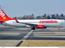 Corendon Dutch Airlines, Boeing 737-800(WL) PH-CDH (SXF 3.3. 2018)