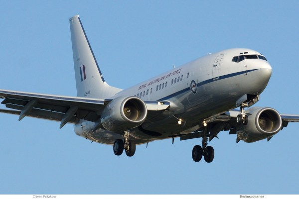 Royal Australian Air Force, Boeing 737-700(BBJ) 36-001 (TXL 21.4. 2018)