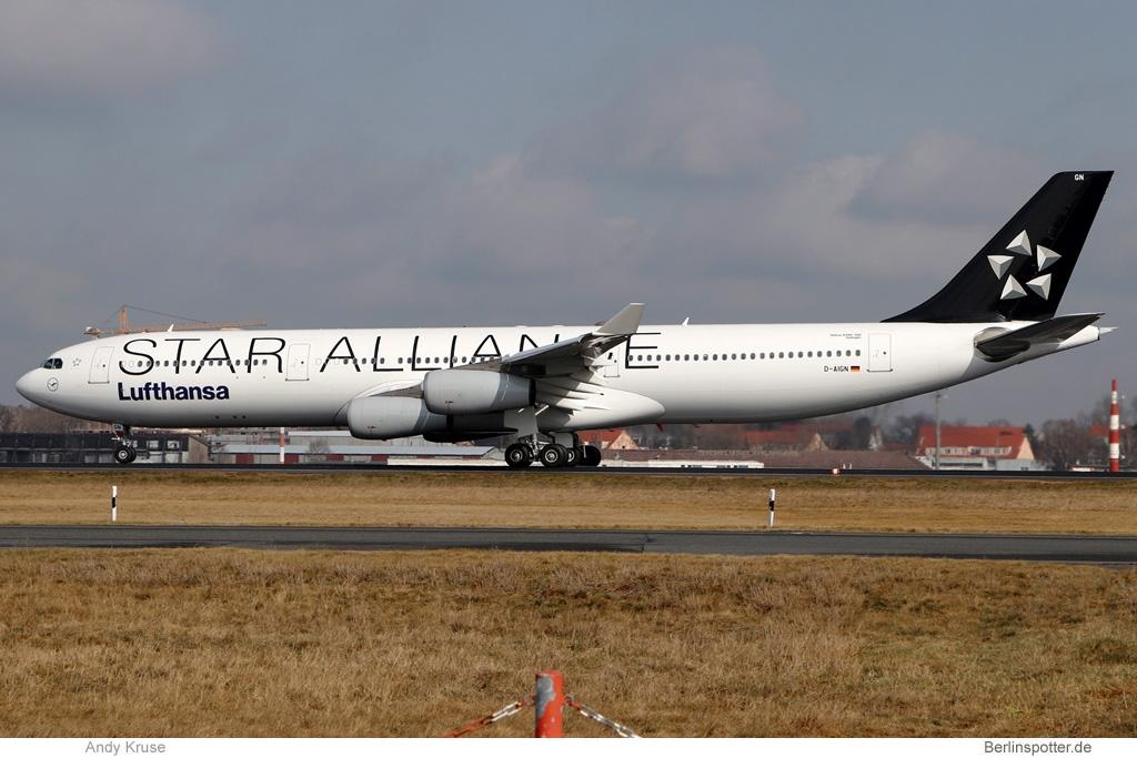 Lufthansa Airbus A340-300 D-AIGN