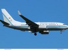 Kolumbien AF, Boeing 737-700(BBJ) FAC0001, TXL 9.5. 2018